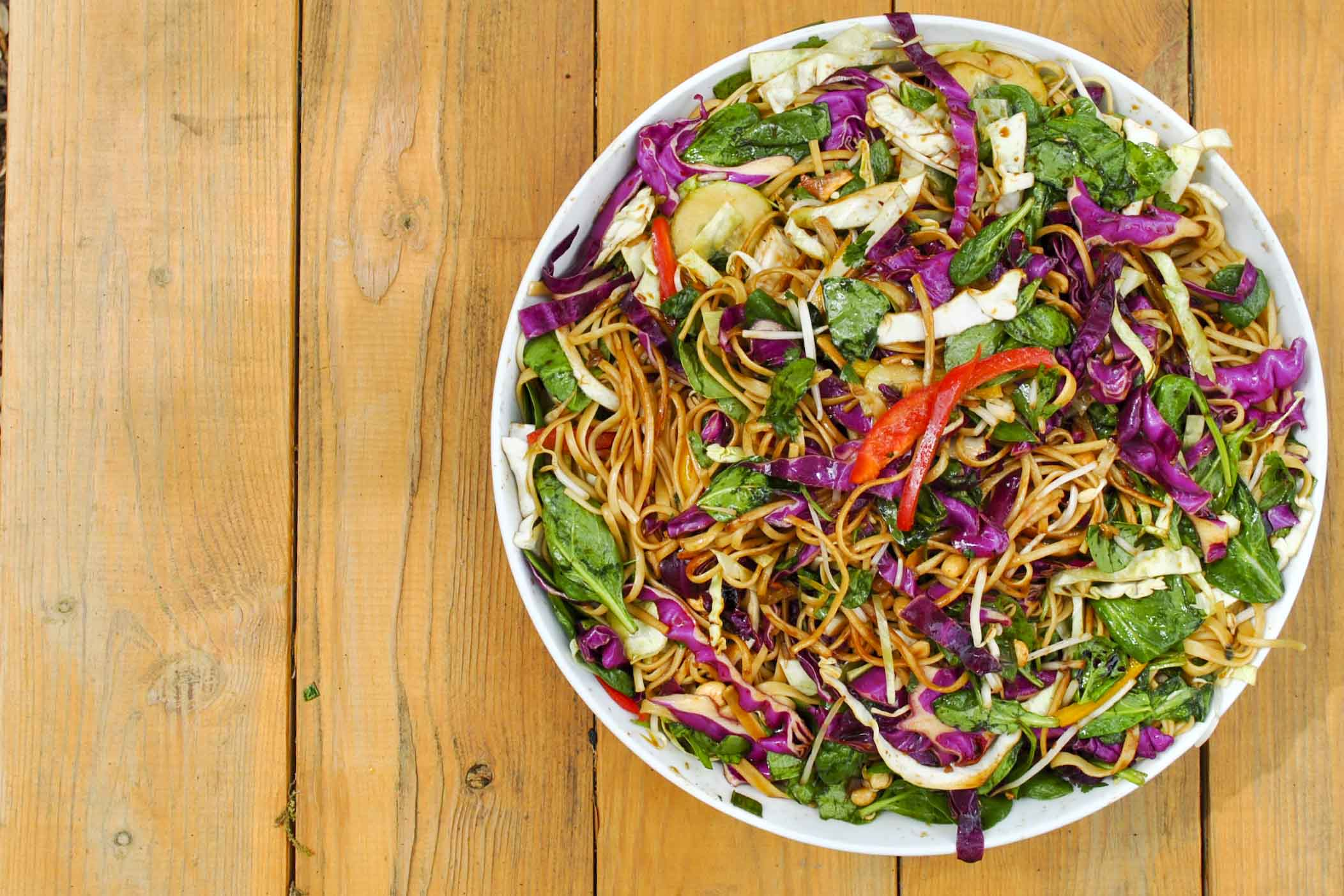 weekend chiropractor asian noodle salad